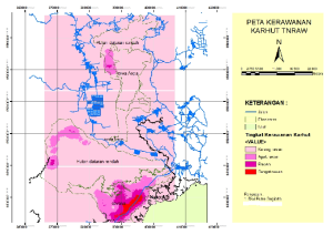 Peta kerawanan kebakaran berdasarkan rata-rata kepadatan hotspot