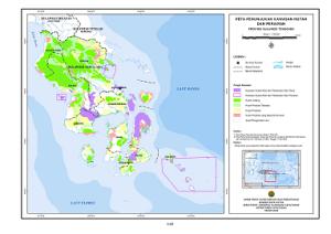 Peta kawasan hutan Sultra