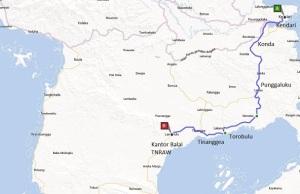 Peta Rute I Kendari - Kantor Balai TN Rawa Aopa Watumohai
