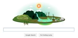Google Doodle memperingati hari bumi 2013