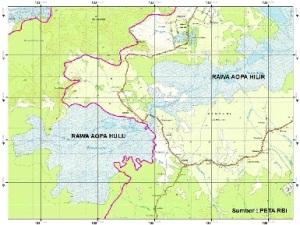 Peta posisi Rawa Aopa