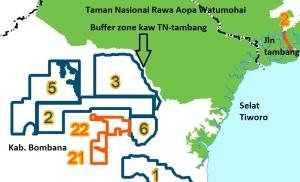 Area ijin pinjam pakai di Kabupaten Bombana