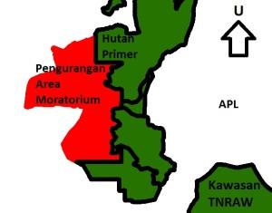 Posisi pengurangan moratorium terhadap kawasan TN Rawa Aopa Watumohai