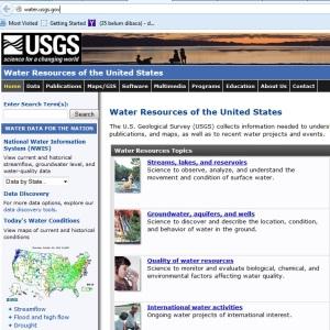 Layanan USGS sumber daya air dipertahankan