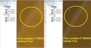 Menajamkan Citra Landsat 8 6