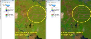 Menajamkan Citra Landsat 8 7