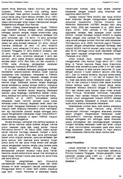 jurnal bakosurtanal kebakaran taman nasional rawa aopa 2