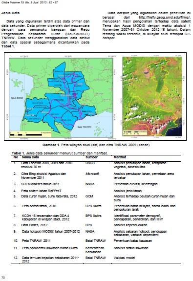 jurnal bakosurtanal kebakaran taman nasional rawa aopa 3