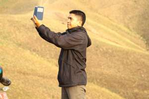 Selfie at Hoki-hokio Hills